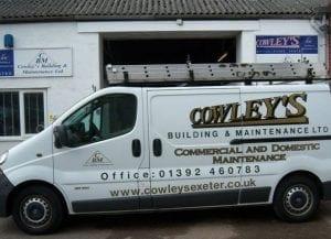 cowley's builders van